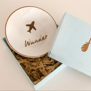 Lucky Feather Trinket Ring Dish Wander